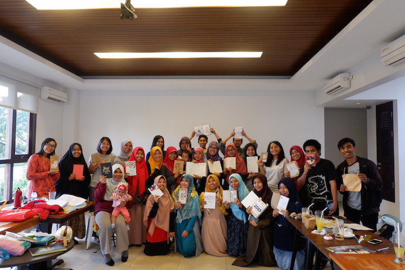 With Participant of Bullet Journal Workshop