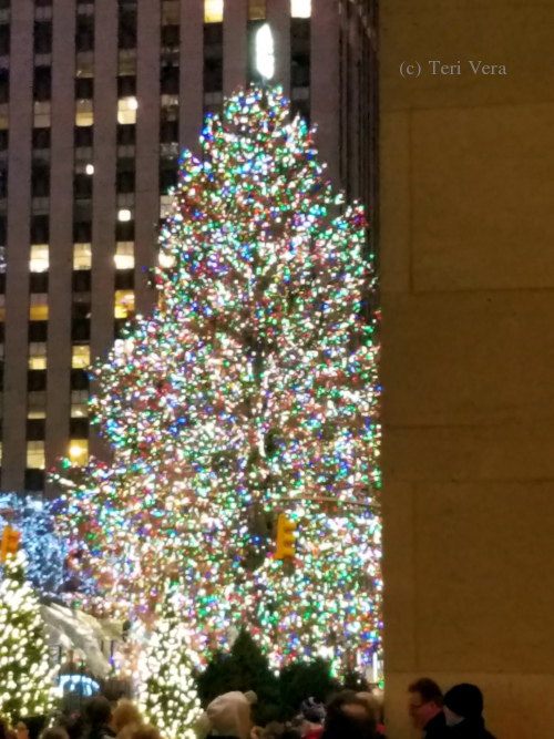 Christmas tree at Rockefeller Center in NYC