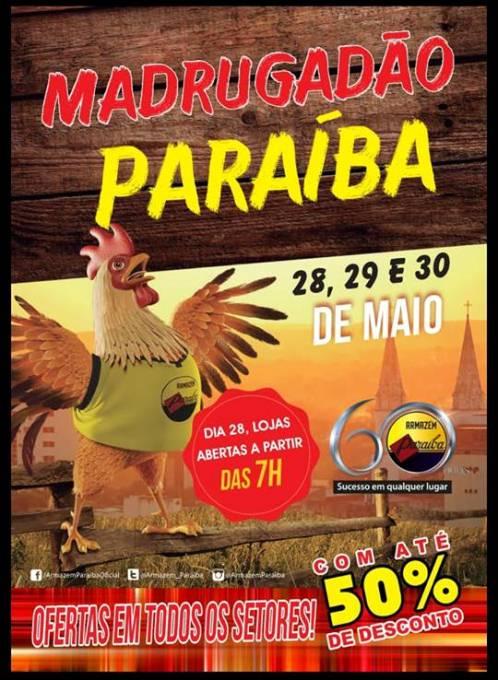 Atenção! Paraíba de Chapadinha estará aberto em horário especial neste feriado (31)