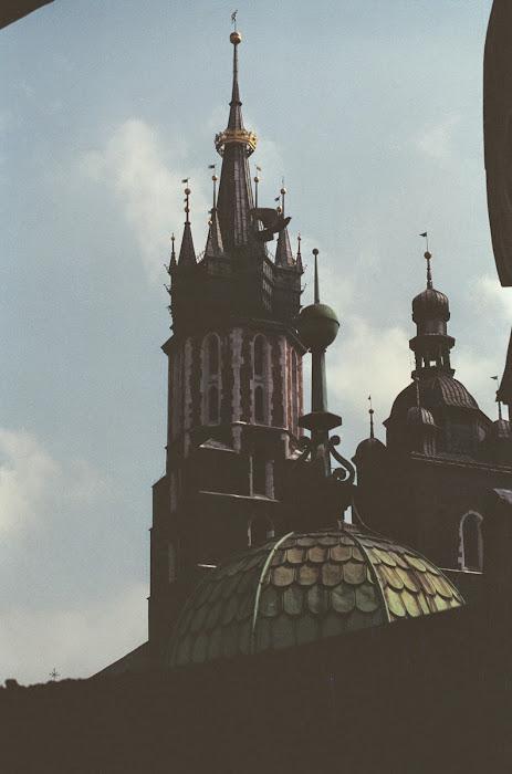 Cracovie, basilique Mariacka, Sainte-Marie, © L. Gigout, 1990