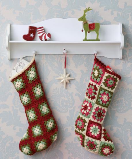 1960s crochet christmas stockings - Crochet Christmas Stockings