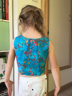 Butterfly bodice back view