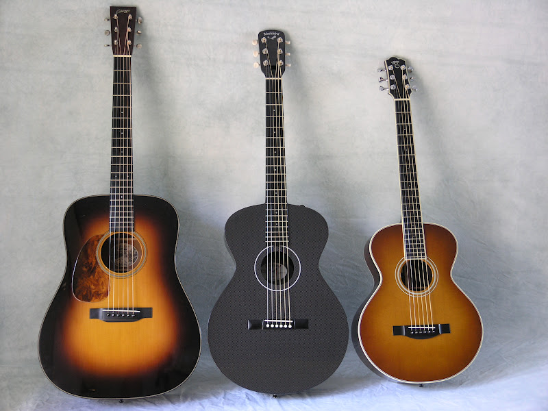 jerry 39 s lefty guitars newest guitar arrivals updated weekly size comparison of 3 guitars 3 6 12. Black Bedroom Furniture Sets. Home Design Ideas