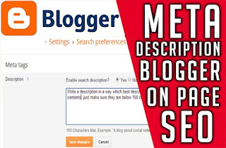 Meta description add blogger posts