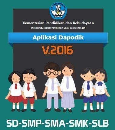 gambar aplikasi dapodik SD, SMP, SMA dan SMK versi baru