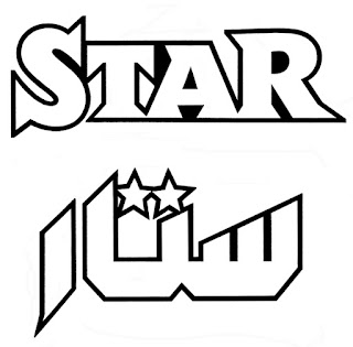Star, Logo in arabischer Schrift