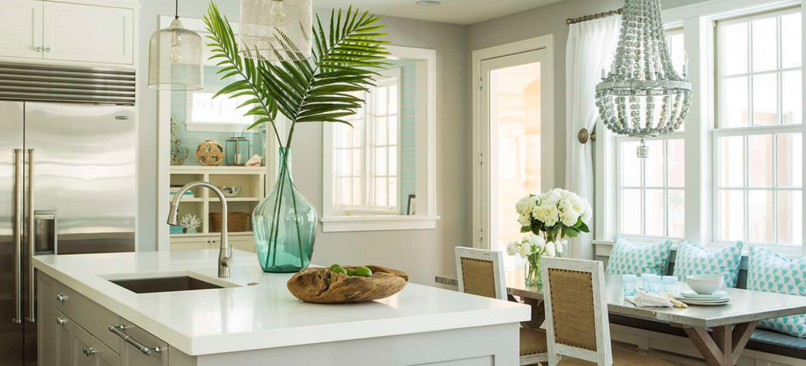 ... White Kitchen, If You Have A Good Stopping Point. Crown Molding Or Beam  Ceilings Often Solve This And Create A Solution For Where The Paint Can  Stop.