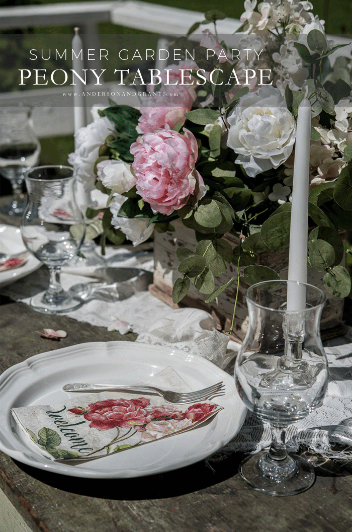 Summer Garden Party Peony Tablescape