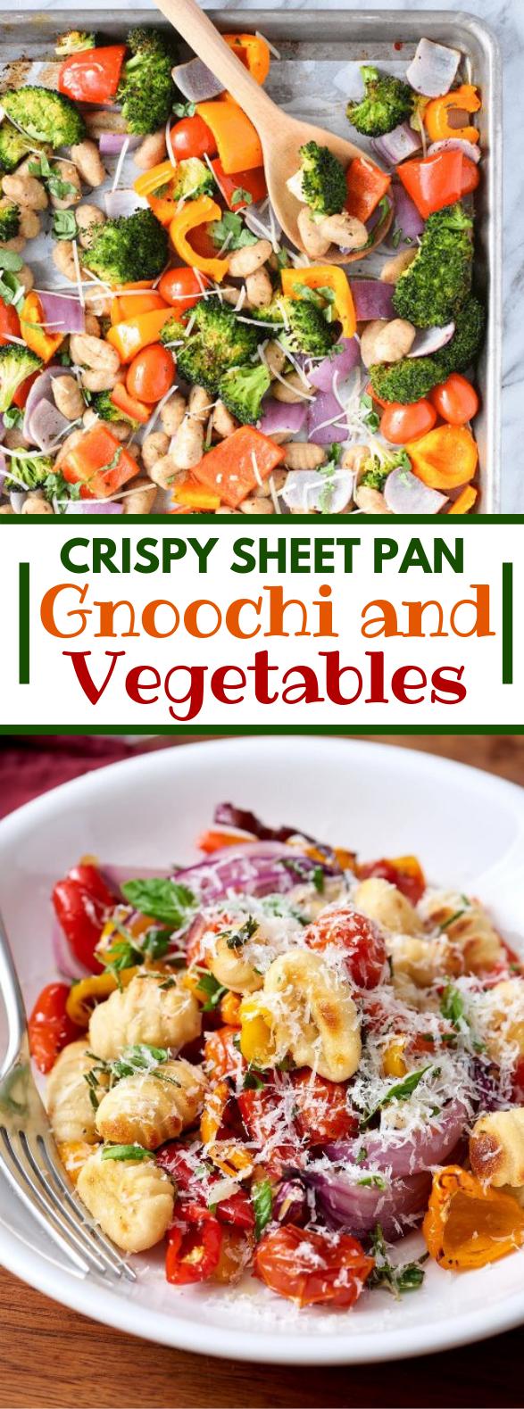 Crispy Sheet Pan Gnocchi and Veggies #vegetarian #onepandinner