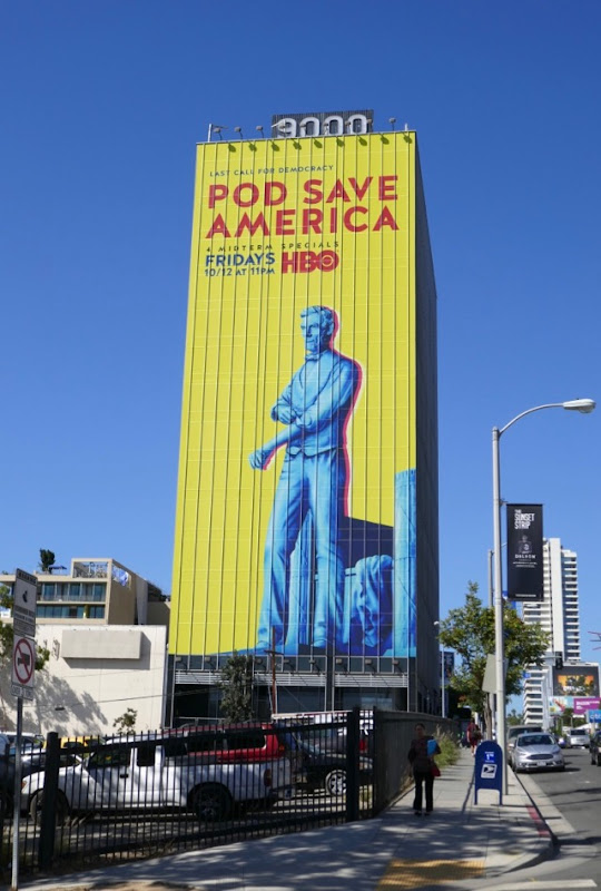 Giant Pod Save America billboard