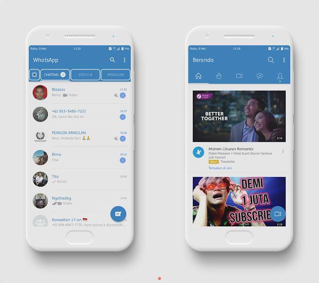 Download Tema Pure SGS9+ Mtz Full Tema Samsung Terbaru