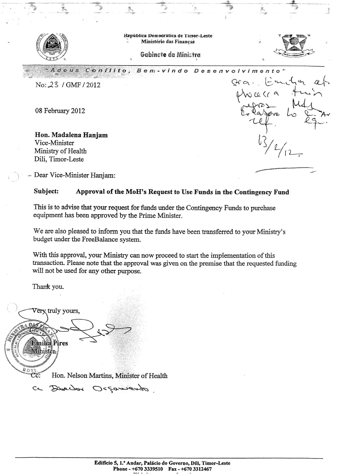 Letter Requesting Budget Approval