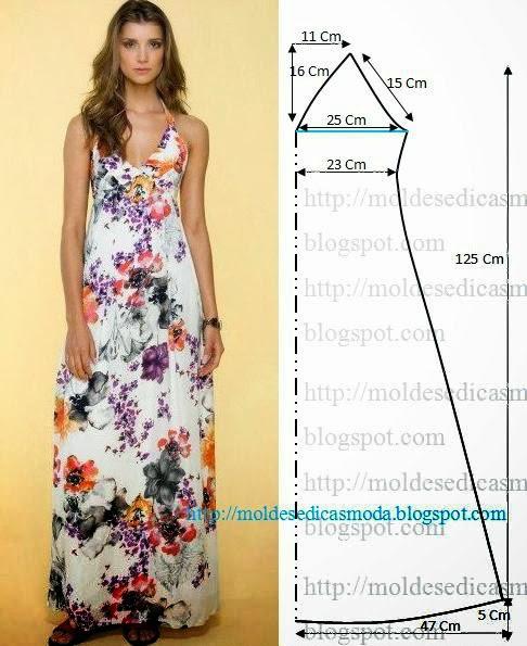 Preferenza Relasé: Lungo vestito estivo - cartamodello e spiegazioni gratis EB99