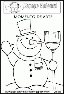 Desenho boneco de neve colorir