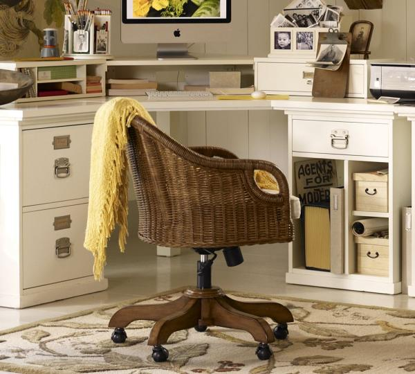 Rattan Office Chair. Rattan Swivel Desk Chair Make This Office Chairs More  Cool Combine L