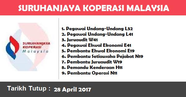 Jawatan Kosong di Suruhanjaya Koperasi Malaysia (SKM)