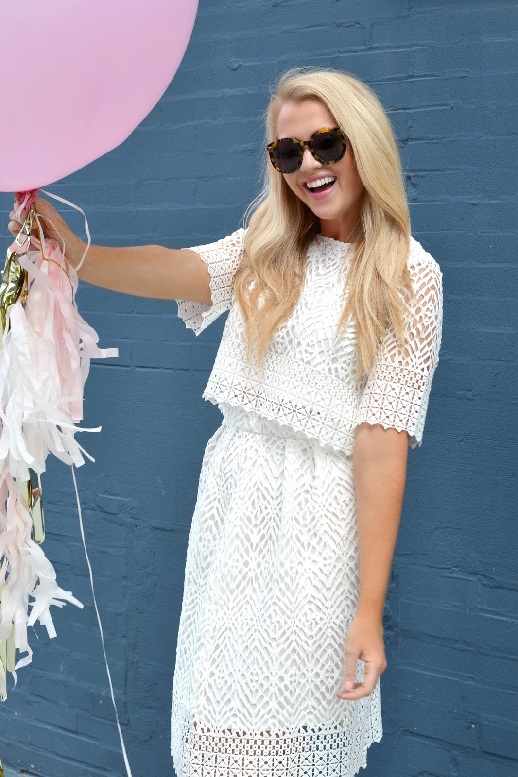 white lace top and skirt set