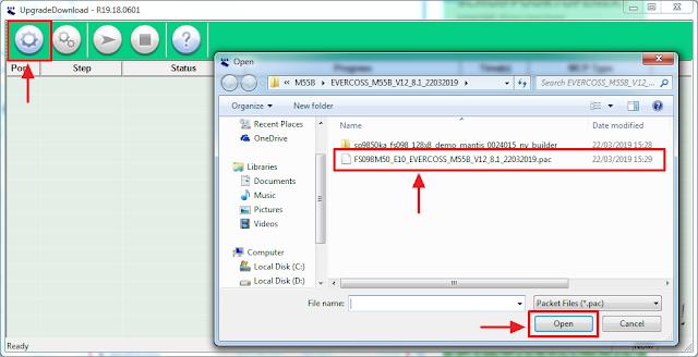 input firmware evercoss m55b