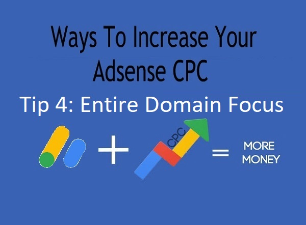 Ways To Increase Your Adsense CPC - Tip 4: Entire Domain Focus