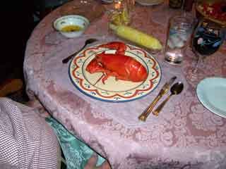 Lobster served