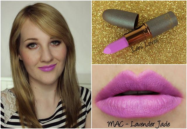 MAC Lavender Jade lipstick swatch