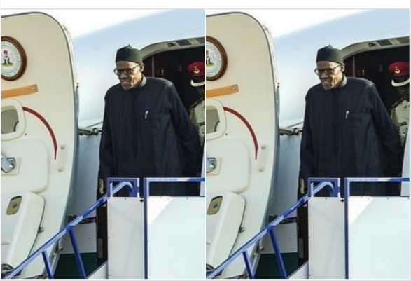President Buhari's presidential advanced team just landed at Nnamdi Azikiwe Intl Airport Abuja