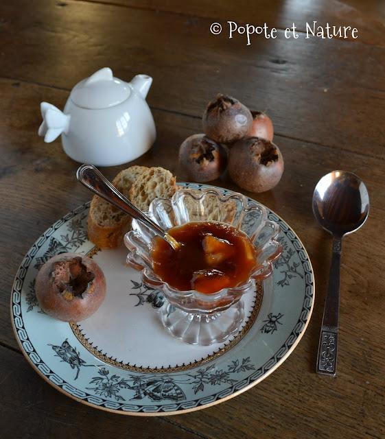 Confiture de nèfles-pommes © Popote et Nature
