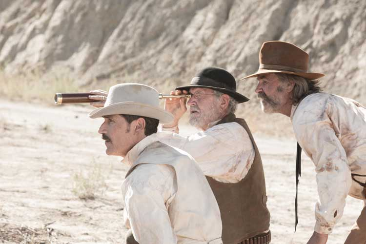 Kurt Russell, Matthew Fox, and Richard Jenkins star in Bone Tomahawk.