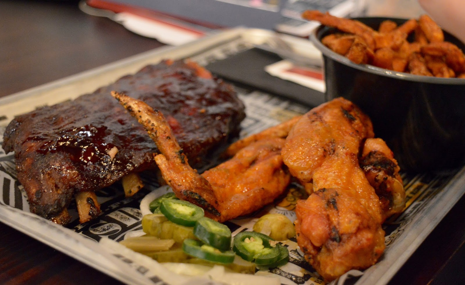 Red's True BBQ Newcastle | Menu Review (including Children's Menu) - ribs and wings