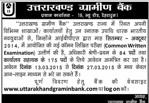 UGB Officers & Assistants Recruitment 2015