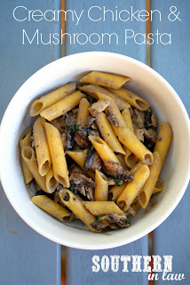 Healthy Creamy Chicken and Mushroom Pasta Recipe