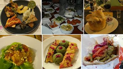 Collage - Gerichte auf meinen Reisen 2016