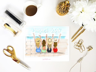 August, august calendar, calendar, free calendar, free printable, printable calendar, calendar download, printable download, planner, calendar lover, free calendar, summer calendar, fashion illustration, fashion sketch, ootd