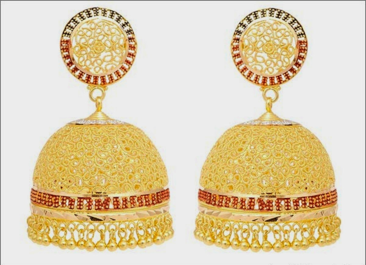 Latest Gold Jhumka Earring Designs HD Wallpaper - all 4u ...