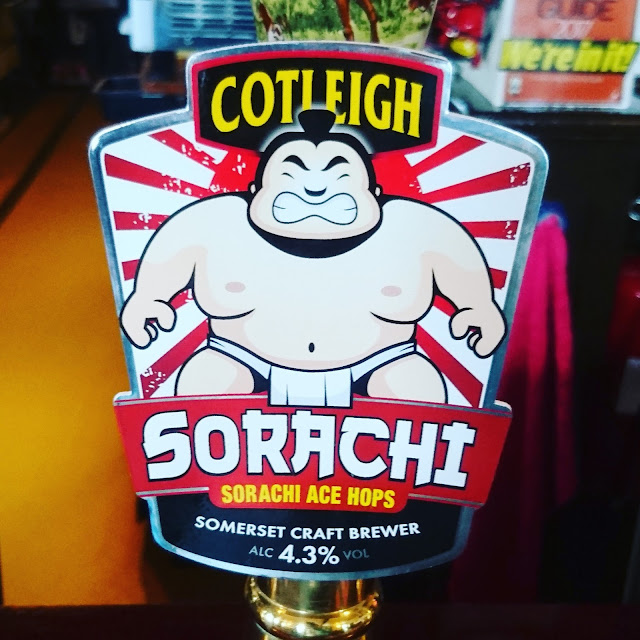 Somerset Craft Beer Review: Sorachi from Cotleigh real ale pump clip