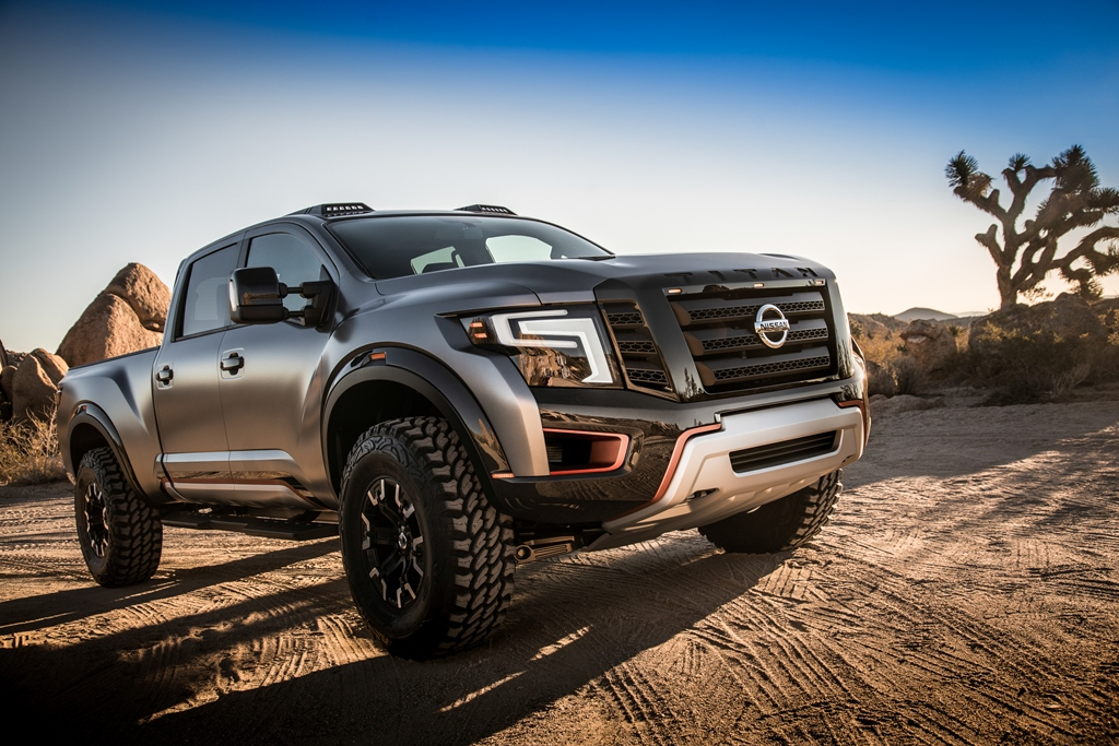 Nissan TITAN Warrior Concept 01rs H Nissan ευχαριστεί την Chevrolet την Ford και τη Dodge για τα επιτυχημένα φορτηγάκια τους!