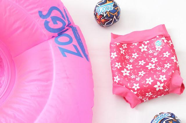 baby girl swimming nappy pink blossom happy nappy