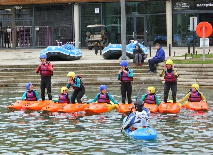 Kayaking at Lee Valley