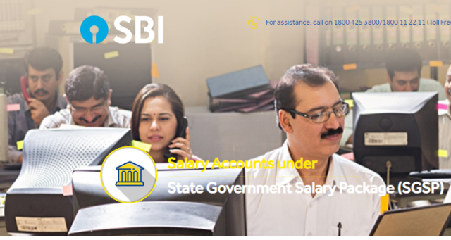 STATE GOVERNMENT SALARY PACKAGE (SGSP)  Employees of State Govt. and Union Territories and permanent employee of Corporations/Boards, etc. in States in Union Territories, Including Teachers/Professors of aided School, Colleges, Universities, etc. can avail of Salary Accounts under State Government Salary Package (SGSP) sbi-sgsp-state-government-salary-package-details-forms-download