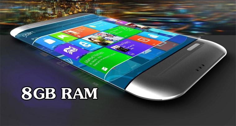 Smartphone Android dengan RAM 8 GB