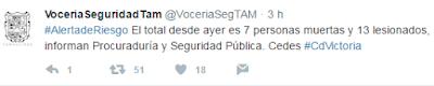 Van 7 muertos y 13 heridos en penal de Ciudad Victoria Tamaulipas