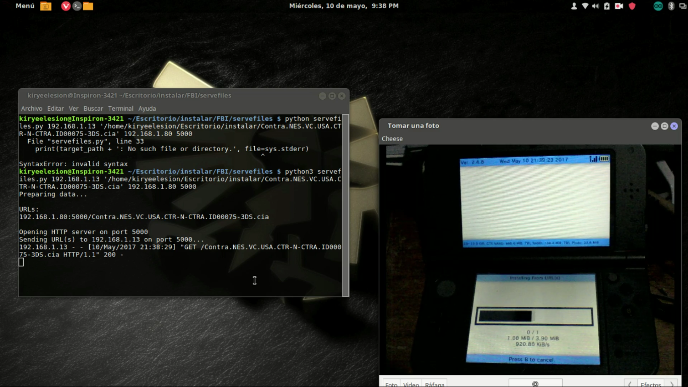 Instalación remota de archivos  cia con FBI installer en