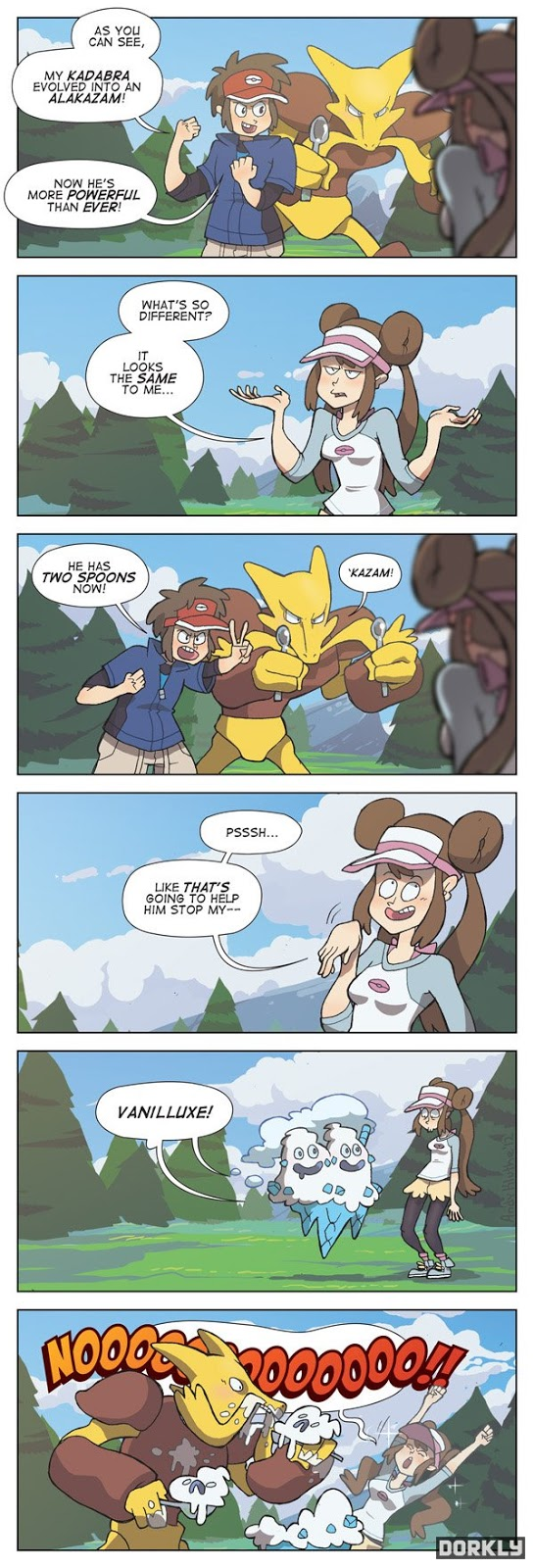 Funny pokemon comic Ice cream and Alakazam