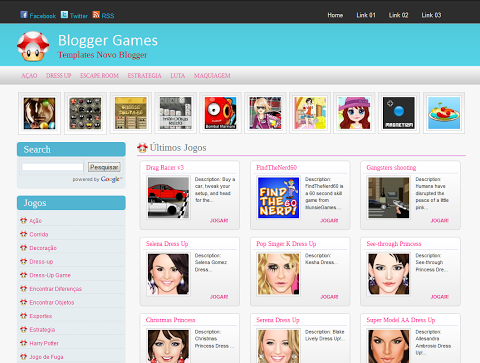 Download Blogger Games Template