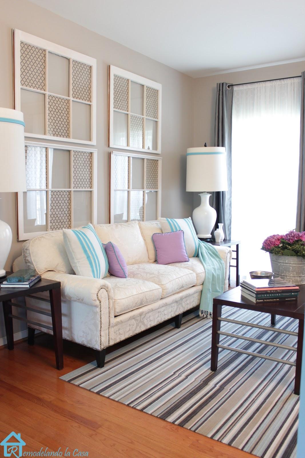 Decorating with Old Windows - Remodelando la Casa