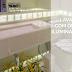 Lavabo com bancada, piso e parede com ônix iluminado + jardim lindo!