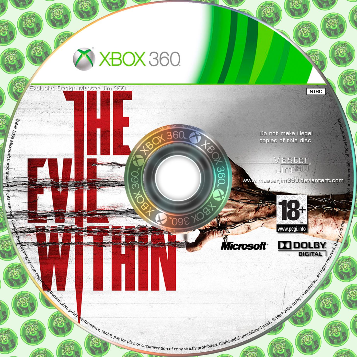 Label The Evil Within Xbox 360
