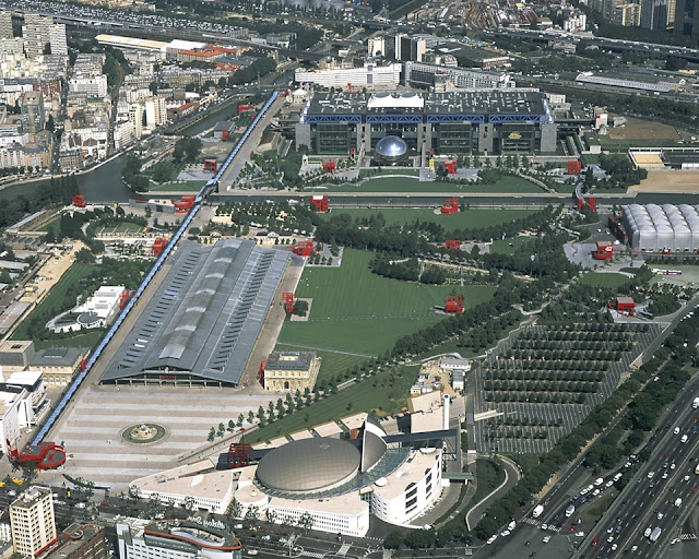 Ossature du parc de la Villette
