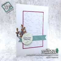 Stampin' Up! Sprig Punch Card Idea for Paper Craft Crew Sketch Challenge #PCC315. Order craft supplies from Mitosu Crafts UK online shop