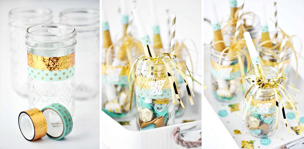 diy frasco con cotillón para regalar en fin de año o nochevieja fácil y lowcost